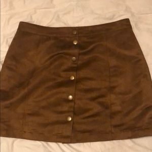 Women's Old Navy short brown suede skirt